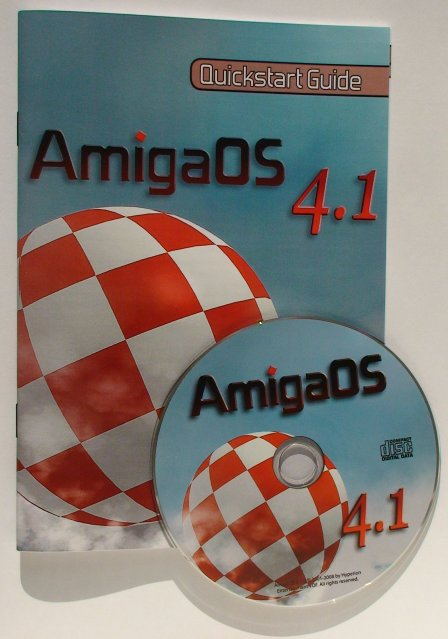 The AmigaOS 4.1 Quickstart Guide and Installation CD