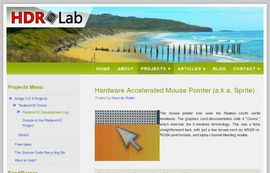 A screenshot of the new and improved HDRLab website